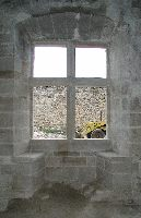 After: Window in the Great Hall of the Château de St-Ferriol restored to its original form